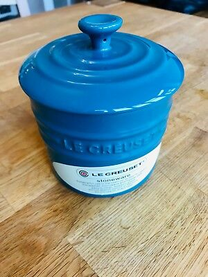 Le Creuset utensil holder storage jar with lid - teal - Brand new with tags