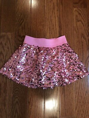 Justice Size 6 Pink Sequin Skirt