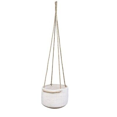 Hanging Plant Pots Jute & Cotton Planter Basket with Rope by Home Interiors