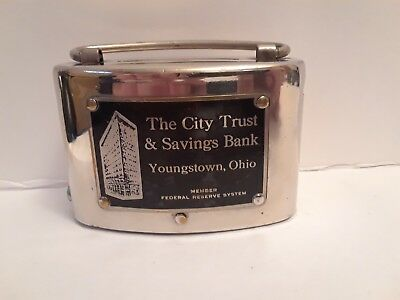 Vintage CITY TRUST & SAVINGS BANK, YOUNGSTOWN OHIO METAL BANK
