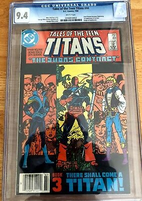 Tales of the Teen Titans #44 CGC 9.4 NM DC Comic KEY 1st Nightwing Jericho