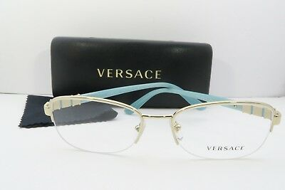 3535101cf252 VERSACE WOMEN'S GOLD Glasses with case MOD 1230-B 1362 54mm - $87.68 ...