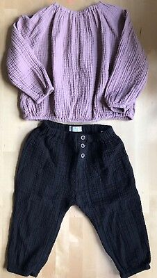 Zara baby girl outfit top and trousers 18-24 months VGUC