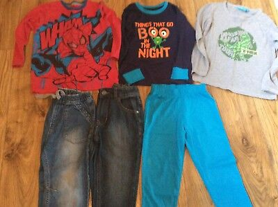 Boys Winter Clothes Bundle Jeans Pyjamas Tops Age 4-5 Years