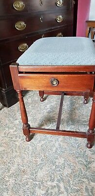 Upholstered antique stools