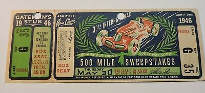 Indy 500 1946 Full Ticket