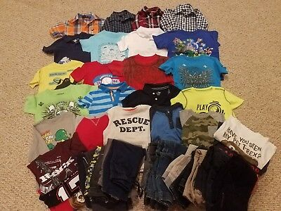 Huge Lot of 45 4T Boys Winter/Spring Clothes