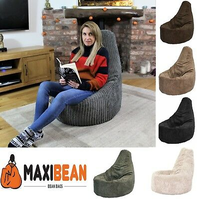 Large Jumbo Cord Bean Bag Chair Gamer Beanbag Adult Gaming Pod Big Arm Cordrouy