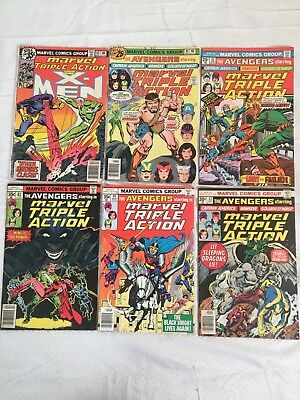 14 Issue Lot of Marvel Triple Action Comic Books Bronze Age 20 to 35 cent covers