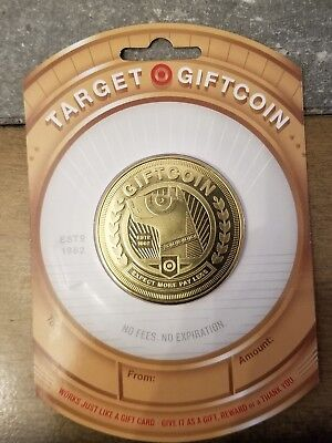 "Target Bullseye Dog 2016 Gift Card ""Gold Coin"" No Value New Collectible"
