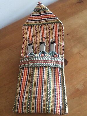 3 Folding Travel Hangers In A Carry Case - Vintage