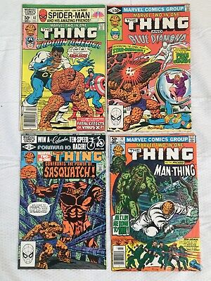 22 Issue Lot of Marvel Two in One Comic Books Bronze Age The Thing