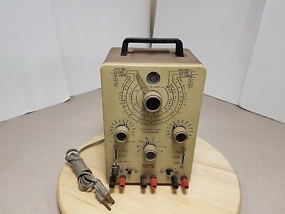 Power Tested Only Vintage Heathkit Model IT-28 Capacitor Checker Missing Knob