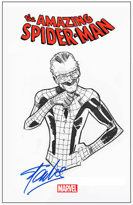 Stan Lee Spider Man Cover Autograph Signed Comic Poster Photo Re-Print!
