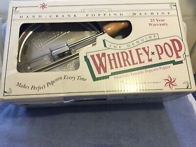 The Original Whirly-Pop Hand-Crank Popcorn Stove Top Popper with box