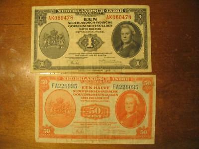 1943 Netherlands - Indie Bank Notes