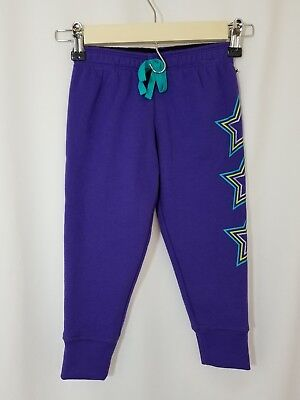NWT Zelos Girls Sweatpants Size 4 Purple With Star Designs on Leg  Elastic Waist