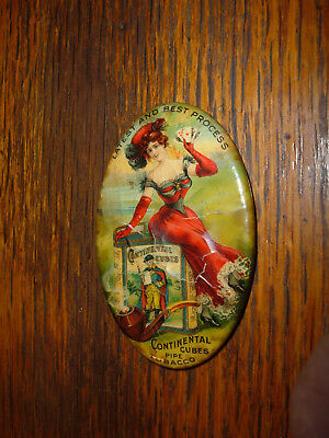 CONTINENTAL CUBES Pipe TOBACCO Advertising Celluloid Vintage Pocket Mirror