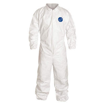 Tyvek 400 collared coverall with elastic cuffs White size MED. pk of 6