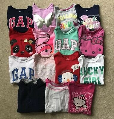 Girls HUGE Lot of Shirts Long Sleeve Short Sleevs Size 4T GAP