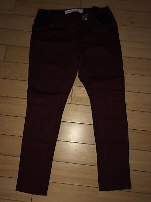 Womens Next Maternity Red Skinny Jeans Size 12