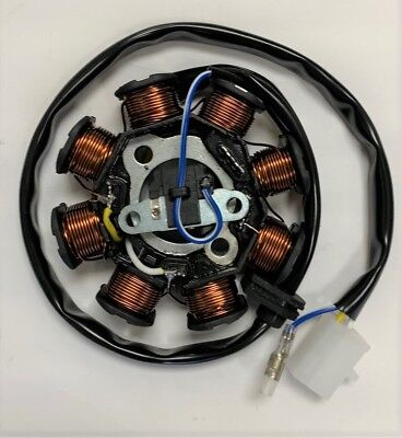 50cc Stator / MAGNETO - 3 wire 8 coil ~ GY6 engine - DC STATOR 4175