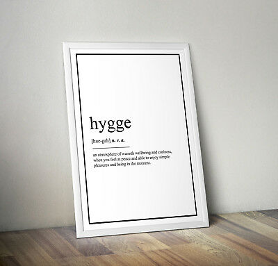 Hygge Definition Print, Home Decor, Minimalist Poster, Wall Art, Poster gift