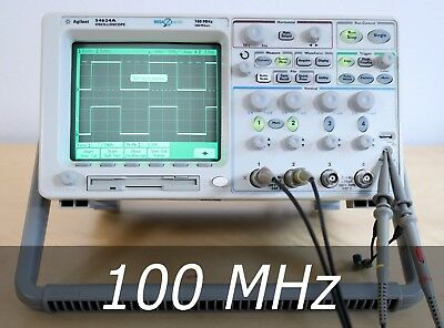 HP / Agilent 54624A 4-channel 100 MHz Oscilloscope + 2 New Probes. Very clean