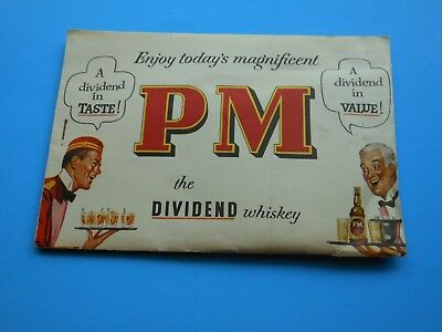 PM the Dividend Whisky-Vintage Promotional Advertising, Puzzle--Stapled Envelope