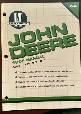 John Deere Shop Series 50 60 70 Operator's Manual Owner's JD-10