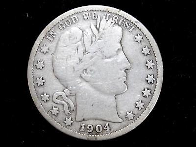 "1904S ""key Date""  Barber Half Dollar - Very Good Or Better"
