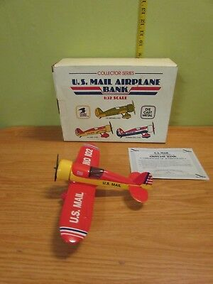VINTAGE Die Cast Vintage Airplane Bank 1/32, US Mail #102