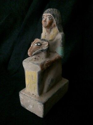 ANCIENT EGYPTIAN STATUE ANTIQUES Horemheb Hathor Head Sculpture 1360-1340 BC