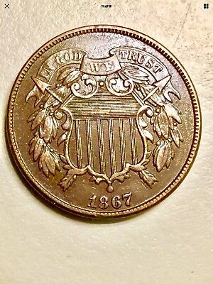 1867 2 cent piece EXTREMELY HIGH GRADE!  Very Low Reserve. $150+ Value