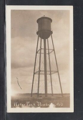 Real Photo Postcard Bowbells N.D. Water Tank 1913 Not Mailed