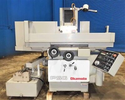 "8"" x 20"" Okamoto 820 DX Automatic Hydraulic Surface Grinder 1996"