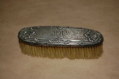 Antique Silver Clothing Brush Marked Sterling 5 1/4 inches long