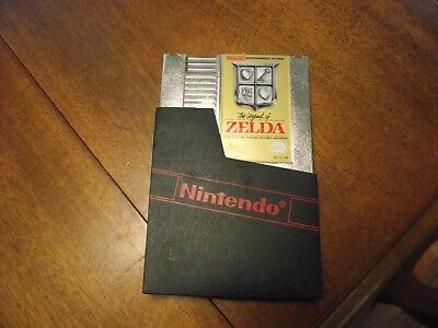 Nes Legend of Zelda gold tested saves working clean 100% authentic