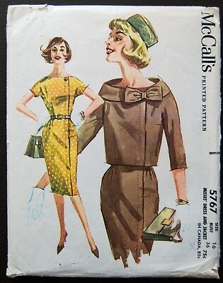 Vintage Original McCall's 60's Dress/Jacket Pattern No. 5767