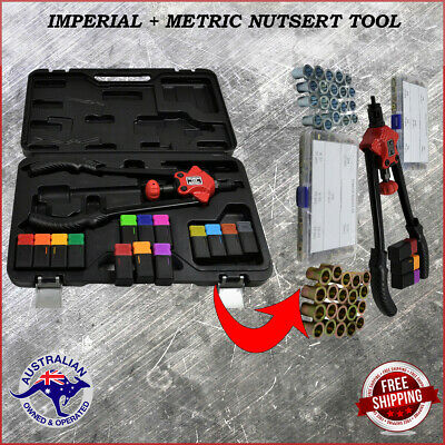 Insert Dual Nut Riveter Kit Rivet Nutsert With 90 Captive Steel Nuts Rivnut