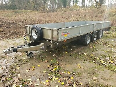 "Nugent Flatbed Trailer - 18' x 6'6"" - Triple Axle with Sides"