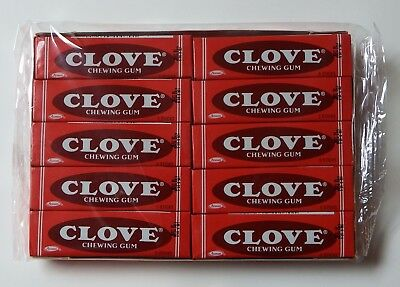 Adams Clove Chewing Gum Unopened Tray of 20 Packs Factory Sealed FREE Shipping