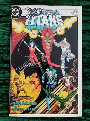 New Teen Titans 1 / Perez & Wolfman Signed Cover / Free Shipping