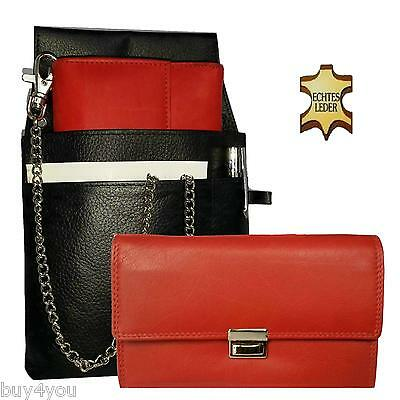 Pro Server Set Real Leather Waiter Holder Holster Wallet Purse Case