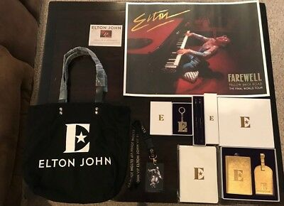 ELTON JOHN 2018 Farewell Yellow Brick Road Tour VIP Swag Memorabilia