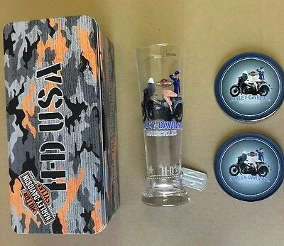 Harley-Davidson Military Pin-Up Pilsner Set Air Force Ava
