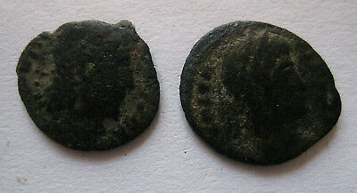 UNIDENTIFIED ROMAN OR GREEK EMPIRE BRONZE ANCIENT COIN   Lot Of 2