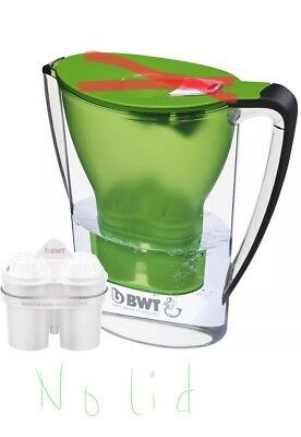 BWT Water Filter Pitcher 2.7L Green 120L Cartridge *No Lid* Replacement Pitcher