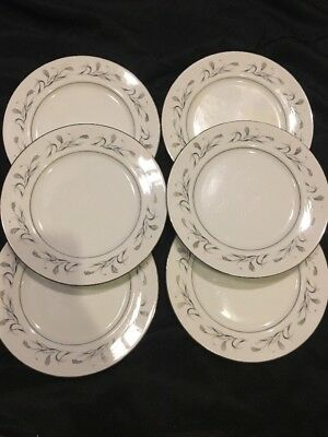 1950's Harmony House Platinum Garland Salad / Dessert Plate Lot Of 6 #3541 7""
