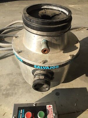 Salvajor Model #100 Commercial Waste Disposal Unit 1 HP -208  3-Phase